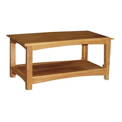 Manhattan Oak Coffee Table with Shelf