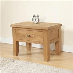 Shrewsbury Oak Side Table with 1 Drawer