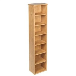 Accent Rubberwood CD/DVD Rack Unit Light