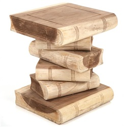 Medium Book Stack Table Plain