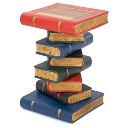 Large Book Stack Table Painted Gold