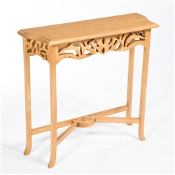 Accent Rubberwood Mini Console Table - Light