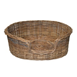 Extra Large Grey Oval Dog Basket