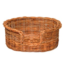 Small Rattan Oval Dog Basket