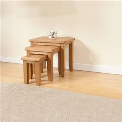 Shrewsbury Oak Nest Of Tables