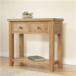 Shrewsbury Oak Console Table with 2 Drawers