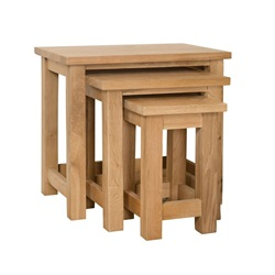 Smart Oak Nest of 3 Tables