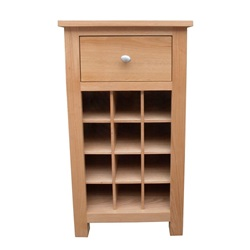 Smart Oak Wine Rack with Drawer