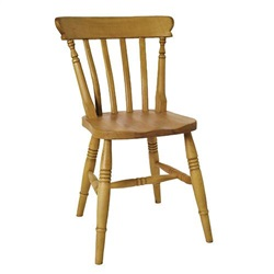 Beech Low Back Slat Chair