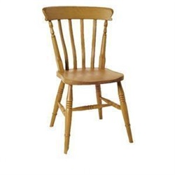 Beech High Back Slat Chair