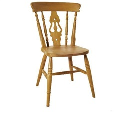 Beech High Back Fiddle Chair