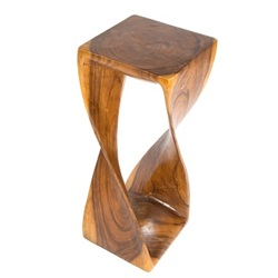 Extra Large Single Twist Wooden Stool Honey