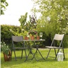 TOBS Faux Rattan Folding Table & Chairs Set