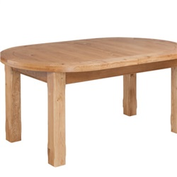 Tuscany Oak Oval Extension Table