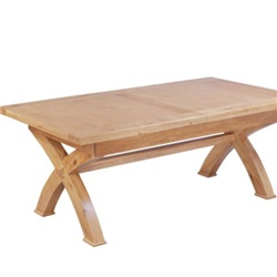 Tuscany Oak Cross Leg Extending Table
