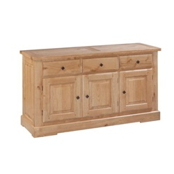 Tuscany Oak 3 Door 3 Drawer Sideboard