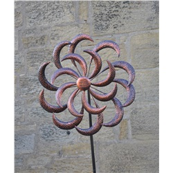 GardenKey Wind Spinner Copper Curls Large