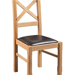Tuscany Oak Cross Back Dining Chair