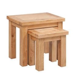 Tuscany Oak Nest of 2 Tables