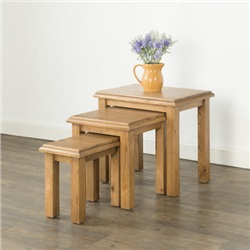 Hartford Oak Nest of 3 Tables