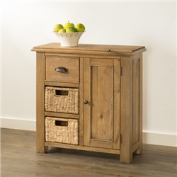 Hartford Oak Compact Sideboard  with Baskets