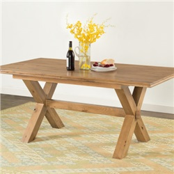 Hartford Oak 180cm Cross Leg Table