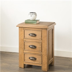 Hartford Oak Bedside Chest of 3 Drawers