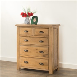 Hartford Oak 2 over 3 Chest of Drawers