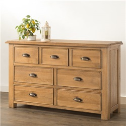 Hartford Oak 3 over 4 Chest of Drawers