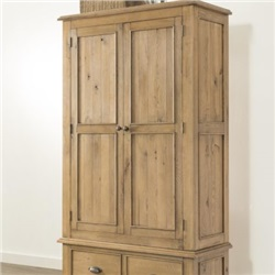 Hartford Oak Double Wardrobe with Drawer