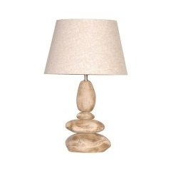 Medium Stacked Pebble Lamp and Shade