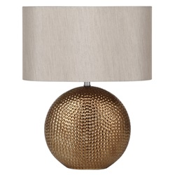 Bronze ceramic table lamp