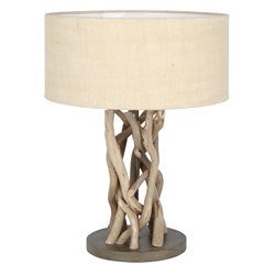 Driftwood and Natural Jute Table Lamp
