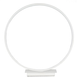 Small White LED Circle Table Lamp