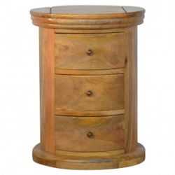 Mango Wood 3 Drawer Drum Chest