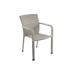 Faux Rattan Stacking Chair