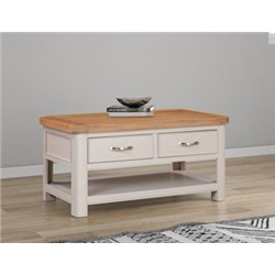 Chatsworth Grey Painted Coffee Table with 2 Drawers