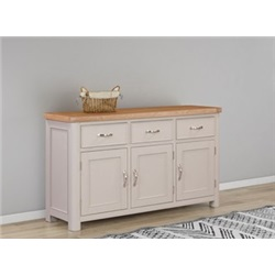 Chatsworth Grey Painted 3 Door, 3 Drawer Sideboard