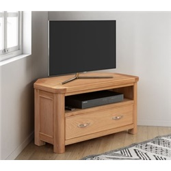 Chatsworth Oak Corner TV unit