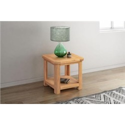 Chatsworth Oak Lamp table with shelf