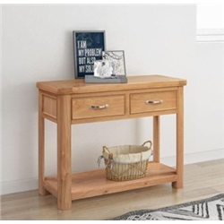 Chatsworth Oak Console table with 2 drawers