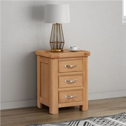 Chatsworth Oak bedside chest with 3 Drawers