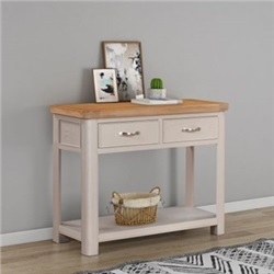 Chatsworth Grey Painted Console Table with 2 Drawers