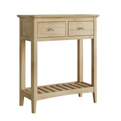 Hudson Oak 2 drawer console telephone table
