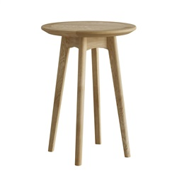 Hudson Oak round wine table/plant stand