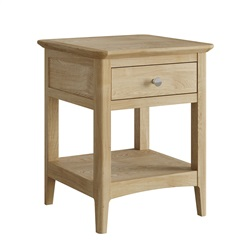 Hudson Oak Lamp table/ bedside with drawer