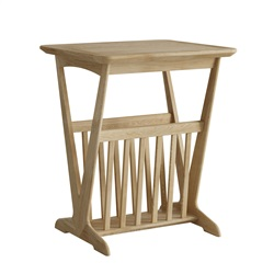 Hudson Oak magazine rack table