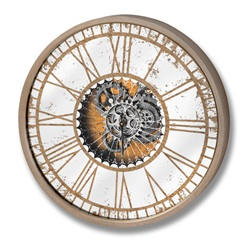Round Clock with Moving Mechanism