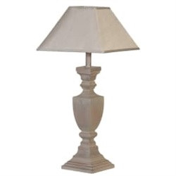 Grey Washed Classical Lamp with Shade