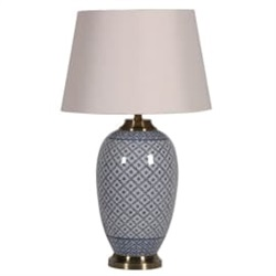 Lattice Patterned Jar Lamp & Shade